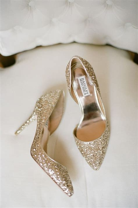 Gold Sparkly Bridal Shoes by The World S Catalog Of Ideas