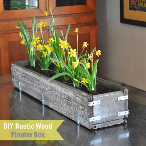 planters diy diy rustic wood planter box make life lovely