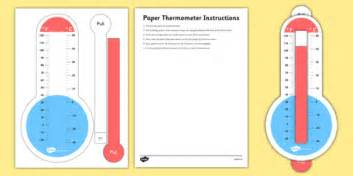 How To Make A Paper Thermometer - fahrenheit and celsius paper thermometer with slider