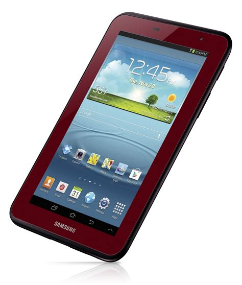 galaxy tab 2 7 0 garnet edition announced for 220 by