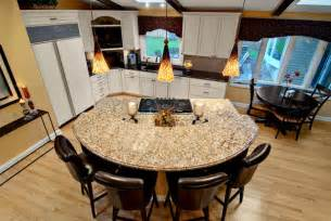 circular kitchen island semi circular granite island contemporary kitchen