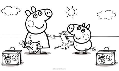peppa pig para colorear pintar e imprimir dibujo peppa pig de vacaciones para colorear etapa infantil