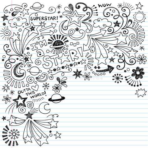 doodle lã sung doodle manchado de tinta vector de la superestrella de