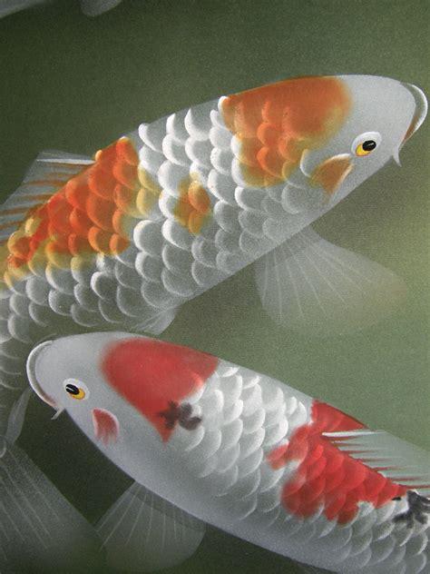 ns  swimming carp japanese brand  kakejiku