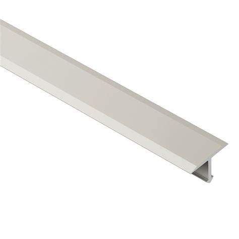 schluter reno t satin nickel anodized aluminum 17 32 in x 8 ft 2 1 2 in metal t shaped tile
