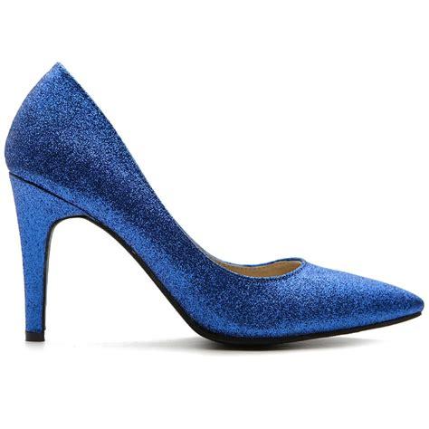 ollio s glitter shoes high heels multi color pumps