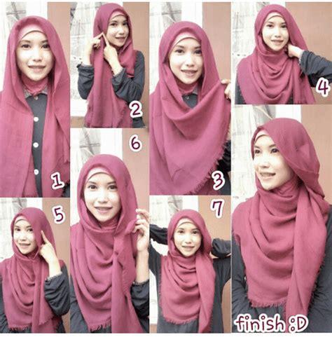 tutorial hijab syar ih tutorial hijab katun rawis segi empat kumpulan contoh