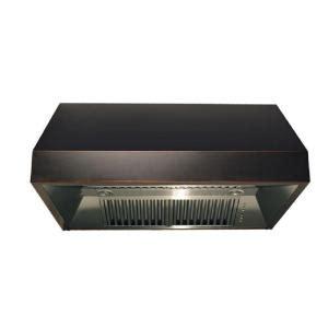Copper Cabinet Range by Zline 30 In 1200 Cfm Cabinet Range In Black