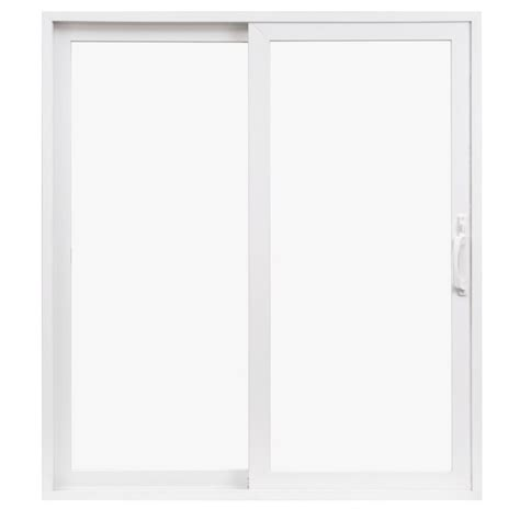 Shop Pella 71 5 In X 79 5 In Clear Glass Left Hand White Vinyl Patio Doors