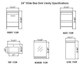 24 inch bea vanity space saving vanity contemporary