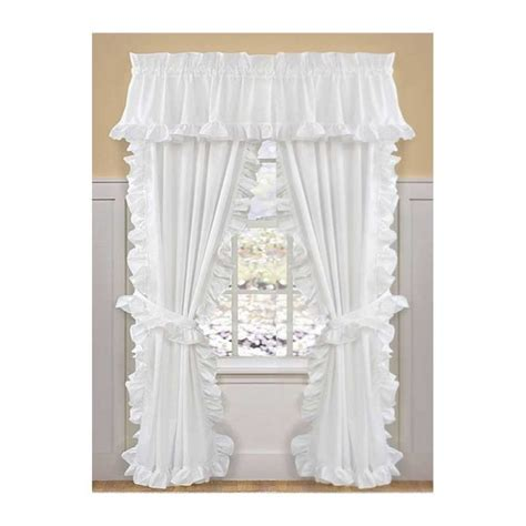 cape cod white ruffled curtains and valances