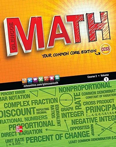 a course of mathematics books 9780076615292 glencoe math course 2 vol 1 your common