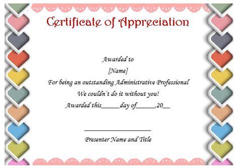 Certificate Of Appreciation Template Psd Free by 50 Professional Free Certificate Of Appreciation