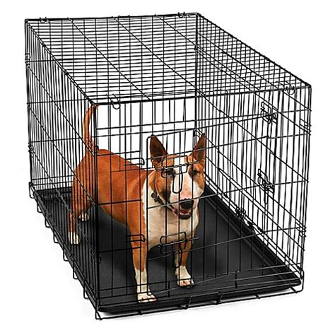 36 inch crate buy oxgord 174 metal door pet 36 inch crate in black from bed bath beyond