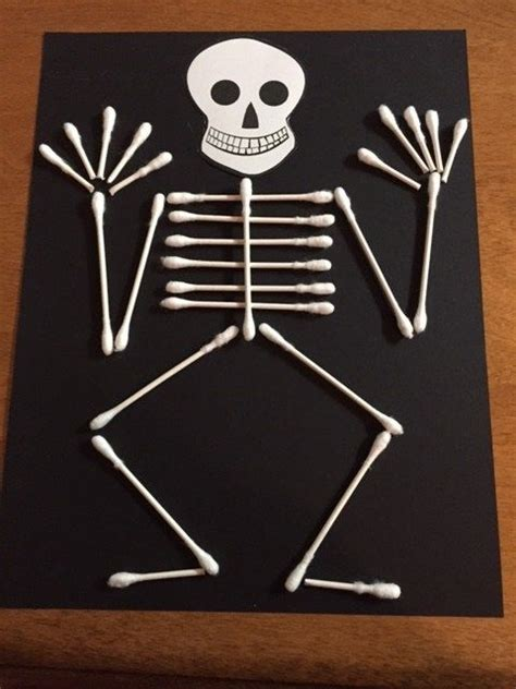 q tip skeleton craft template skeleton q tip craft preschool crafts