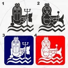 Folien Aufkleber Maritim by Wc Aufkleber Maritim Neptun Nixe