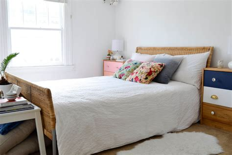white bedding with colorful pillows malm ikea bed bedroom shabby chic style with white bedding