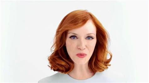 christina hendricks hair color clairol tv spot 39natural hair color secret39 featuring
