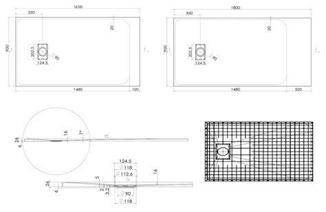 dimensione piatto doccia rettangolare piatto doccia rettangolare di smc 3 2 cm di altezza
