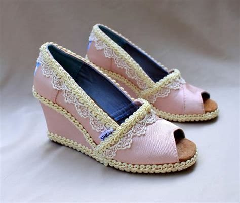 Wedges Bl 104 items similar to custom wedding toms pink wedge size 8