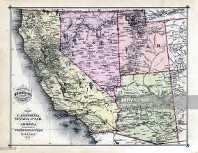 road map of nevada and arizona 1879 california nevada utah arizona states map stock