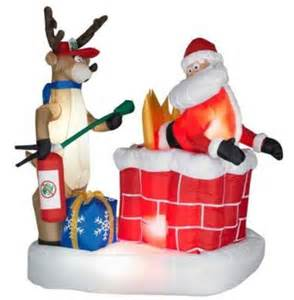 Inflatable santa on fire best inflatable christmas decorations 2011