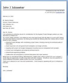 Cover Letter For Project by Cover Letter Engineer Project Manager Career