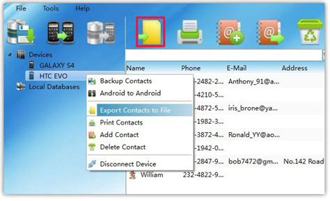csv format for android contacts export android contacts to csv vcard html pdf file