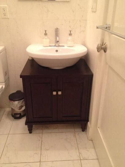vanity cabinet only for pedestal sinks sinkwrap 25 in w x 20 in d vanity cabinet only for