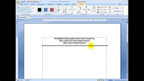 cara membuat garis garis di microsoft word 2010 cara cara mudah membuat garis lurus di ms word youtube