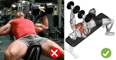 correct incline bench press form dumbbell bench press technique common mistakes