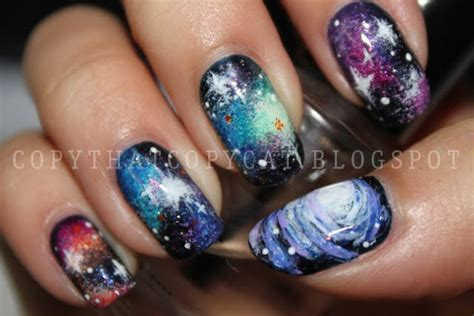 Nägel Lackieren Tricks by Copy That Copy Cat 31 Day Nail Challenge Day 17 Galaxy