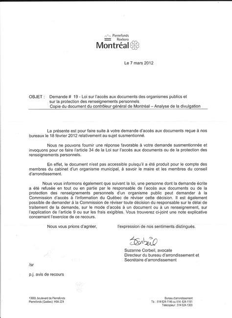 Présentation Lettre Officielle Copie à Aprpr 187 Archive 187 Directeur D Arrondissement Accepte Un Cadeau D Un Promoteur Borough
