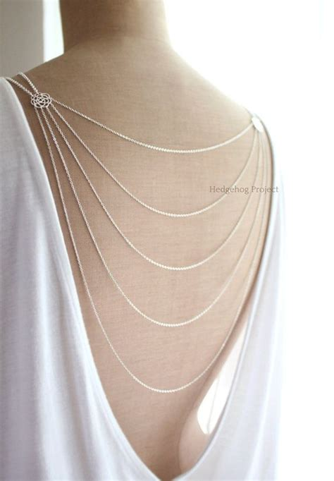 Layered Necklaces The Accessory by Deco Glam Multistrand Back Necklace