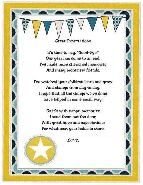Thank You Note To Preschool End Of Year 17 Best Images About End Of The Year Preschool Poems On Jitter Glitter Teaching And