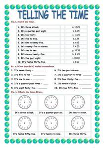 telling the time worksheet free esl printable worksheets