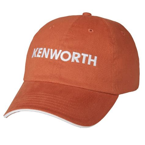 kenworth merchandise kenworth burnt orange sandwich cap kenworth burnt orange