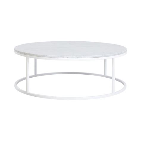 modern marble table l modern contemporary cameron round marble coffee table