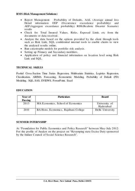 Sle Resume Bank Credit Manager Credit Risk Modeling Resume 28 Images Risk Management Resume Berathen Resume Vinay Singh