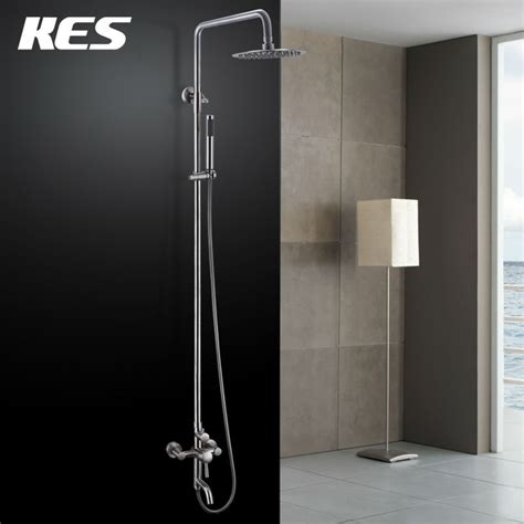 aliexpress com buy kes wall mount bathroom faucet single kes x6650b wall mount tub faucet with round single