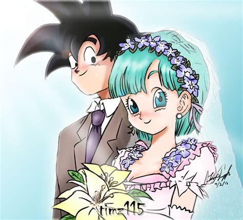 imagenes de goku x bulma goku x bulma marriage by timz115 on deviantart