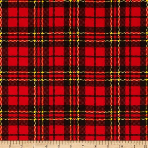 plaid design red plaid flannel fabric com
