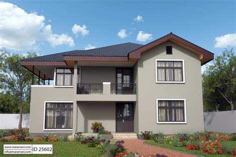 modern 5 bedroom house design id 25603 floor plans by 5 bedroom house design id 25602 house plans by maramani