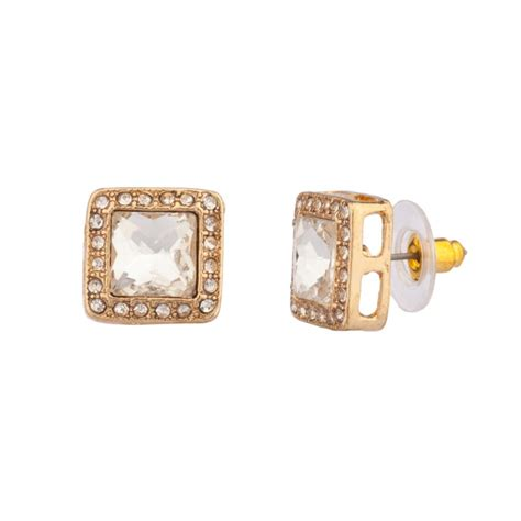 Square Stud classic square pave stud earrings earrings