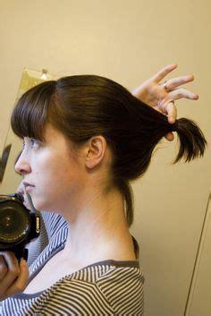 ponytail shag diy haircut how to cut a medium shag into your own hair using a