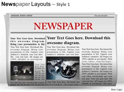 Best Photos Of Newspaper Powerpoint Template Newspaper Template Microsoft Word Editable Microsoft Powerpoint Newspaper Template