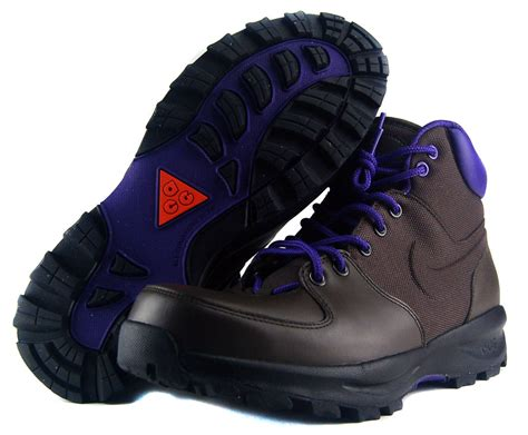 Nike Trekking Brown Brown nike manoa sz 9 5 mens hiking boots brown purple ebay