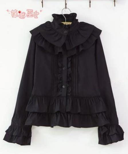 Olita Blouse cotton rococo vintage style ruffles blouse 31 99