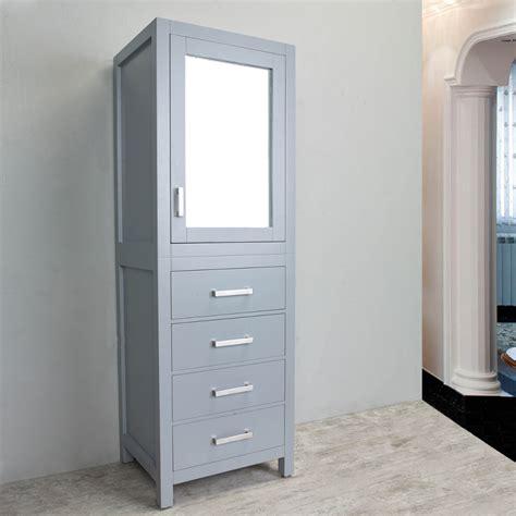 eviva new york 174 24 quot grey side linen bathroom cabinet
