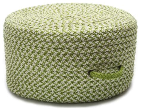 braided pouf ottoman braided houndstooth round pouf lime contemporary